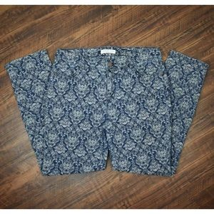 Coldwater Creek Floral High Waist Skinny Jeans